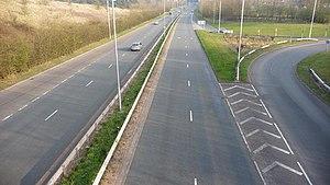 A448 road - Image: A448 Bromsgrove Redditch dual carriageway. geograph.org.uk 1214200