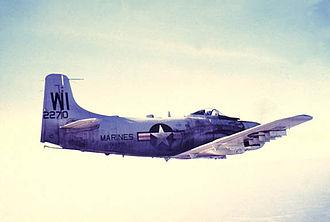 VMFA(AW)-225 - A Douglas AD-4B Skyraider of VMA-225 in 1956