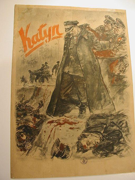 AGAD Katyń – niemiecki afisz propagandowy