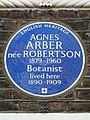 AGNES ARBER nee Robertson 1879-1960 Botanist lived here 1890-1909.jpg