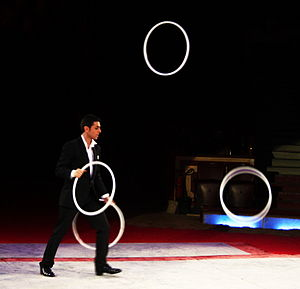 English: Juggler Deutsch: Jongleur im Cirkus. ...