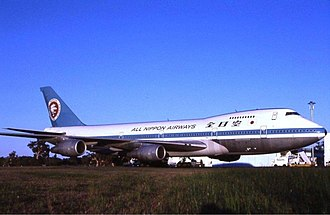 All Nippon Airways - ANA Boeing 747SR-81 at Perth Airport (mid-1980s)