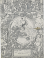 AN ELABORATE COAT OF ARMS WITH THE CALUMNY OF APELLES ABOVE.PNG