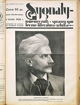 The front page of Sygnały magazine, February 1938.