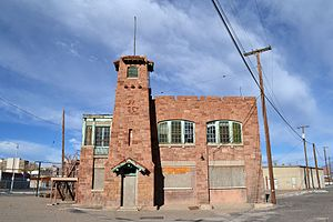 Santa Fe Railway Shops (Albuquerque) - The fire station in 2014
