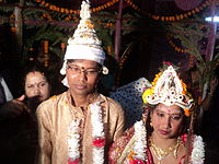 A Bengali Hindu Couple newly Married..JPG