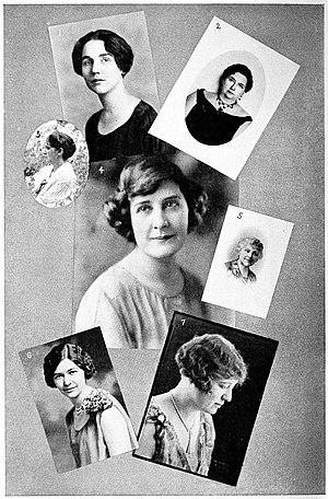 Nona L. Brooks - Margaret Tod Ritter, Virginia D. McClurg, Christine Whiting Parmenter, Lillian White Spencer, Nona L. Brooks, Agnes Wright Spring, Millicent H. Velhagen