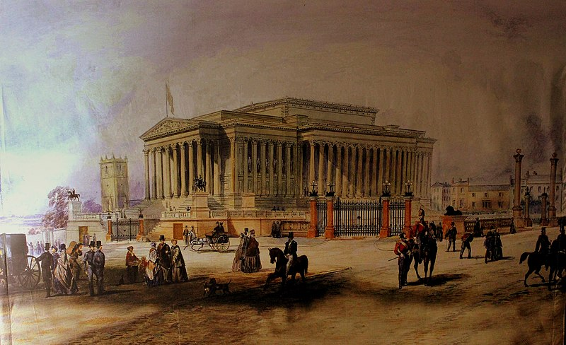 File:A PAINTING ON CANVAS AT ST GEORGES HALL OF ST GEORGES HALL LIVERPOOL IN THE 1800.S TAKEN JAN 2013 (9615323017).jpg