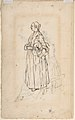 A Woman Spinning (recto); A Woman Holding a Bundle (verso) MET DP809074.jpg
