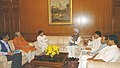 A delegation from Gujarat met the Prime Minister, Dr. .Manmohan Singh, regarding problems pertaining to riot victims, flood victims, fishermen and tribals, in New Delhi on November 08, 2006.jpg