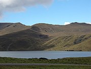 A lake in the Andes Mountains