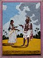 A man from Mysore being handed some betel leaves by his wife Wellcome V0045304.jpg