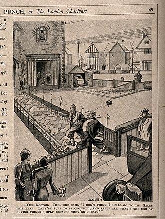 Arthur Watts (illustrator) - Punch magazine humour 1930's.