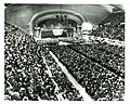 A portion of the overflow crowd of more than 20,000 that packed Cleveland, Ohio's Public Auditorium to hear President Roosevelt deliver his final campaign speech for re-election. November 3, 1940 (8122644924).jpg