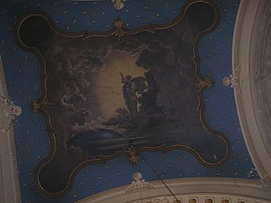 Church of St. Nicholas, Szeged - The fresco of the creation of the world.