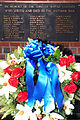 A wreath is displayed at the Wayne County Veterans Memorial in Goldsboro, N.C., during a Veterans Day ceremony Nov. 11, 2013 131111-F-YG094-384.jpg