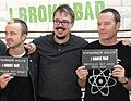 Aaron Paul, Vince Gilligan and Bryan Cranston (cropped).jpg