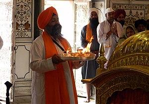 Bhakti yoga - A Sikh performing Bhakti