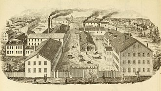 Abbot-Downing Company - Abbot, Downing factory, Concord circa 1870
