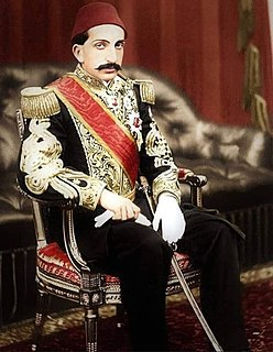 Abdul Hamid II 34th sultan of the Ottoman Empire