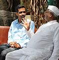 Abhishek Suryawanshi with Anna Hazare.JPG