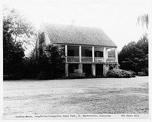 English: Acadian House, Longfellow-Evangeline ...