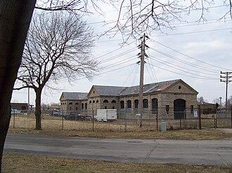 Adams Power Plant Transformer House - Image: Adams Power Plant SE