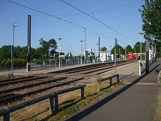 Addington Village Interchange tramstop and bus station in Addington, London Borough of Croydon, UK