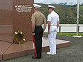 Adm. Walsh and Gen. Simcock at the Guadacanal Monument (5884974519).jpg