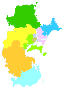 Wuchuan is the easternmost division of this map of Zhanjiang