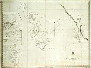 Historische Seekarte von 1732