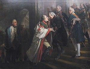 Encounter of Frederick II with Emperor Joseph II in Neisse in 1769 (Adolph Menzel)