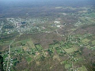 Kane, Pennsylvania - Image: Aerial view of Kane