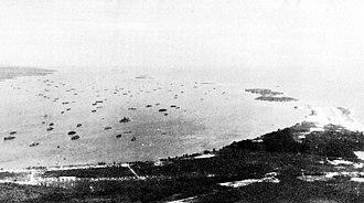 Seeadler Harbor - Aerial view of Seeadler Harbor, circa 1945.