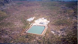 Anti-nuclear movement in Australia - Aerial view of the Ranger 3 site located within Kakadu National Park.