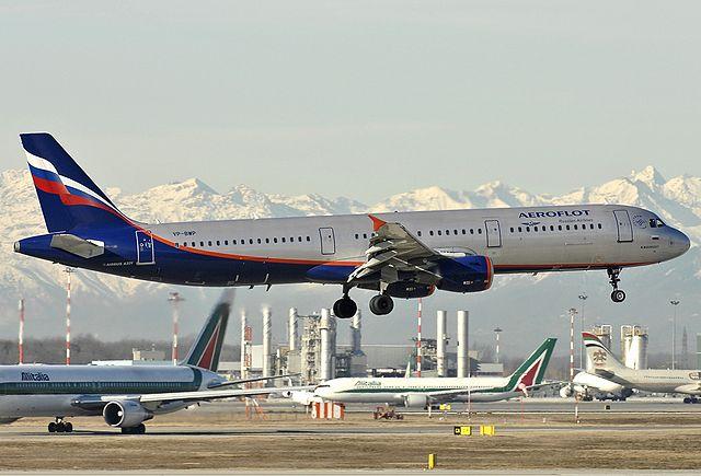 Airbus A321 (номер VP-BWP) авиакомпании Аэрофлот «М. Мусоргский»