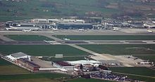 Vista aerea dell'aeroporto