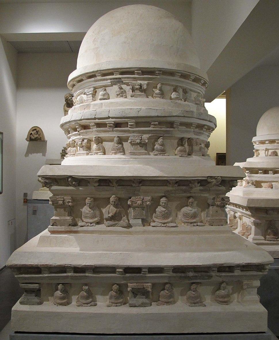 Afghanistan, stupa TK23, sito di hadda, monastero di tapa-kalan, IV-V sec