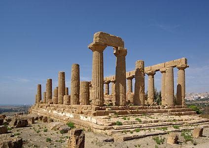 Italy, Sicily, Agrigento, Valley of the Temples, Temple of Juno Lacinia