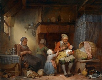 Household - Familienidylle by Aimé Pez, 1839
