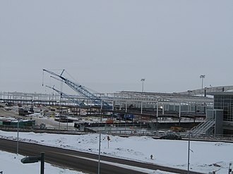 Edmonton International Airport - Terminal expansion in January 2010