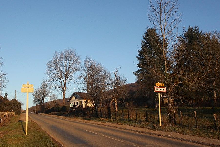 Entrée d'Aïssey (Doubs).