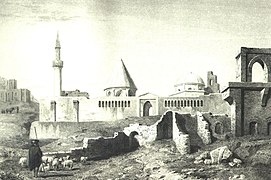 Alaeddin Mosque Konya Turkey 1849 engraving.jpg