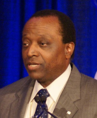 2004 United States Senate election in Illinois - Image: Alan Keyes speech (cropped)