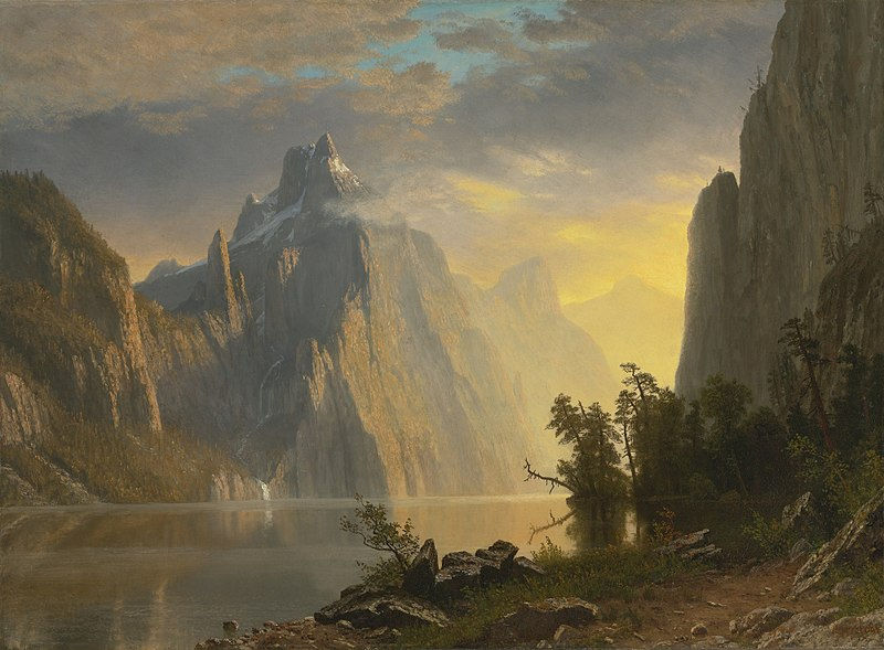 File:Albert Bierstadt - Lake in the Sierra Nevada (1867).jpg