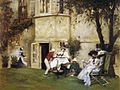 Albert Chevallier Tayler - Tea In The Garden.jpg