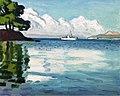 Albert Marquet, 1939 - Bateau blanc, Porquerolles.jpg