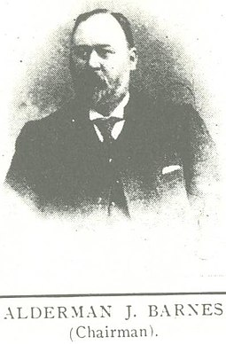 Local alderman James Barnes was an early chairman of the club. AldermanBarnes.jpg