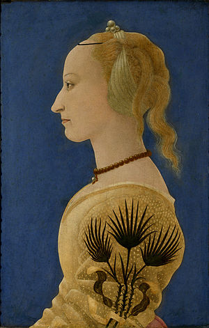 Alesso Baldovinetti - Portrait of a Lady in Yellow, 1400s, c. 1465, The National Gallery, London.