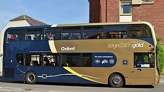 Stagecoach in Oxfordshire - Stagecoach Gold branded Alexander Dennis Enviro400 MMC bus on route 31 in Abingdon-on-Thames in June 2017